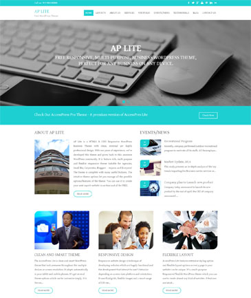 Free WordPress Business Theme – AP Lite