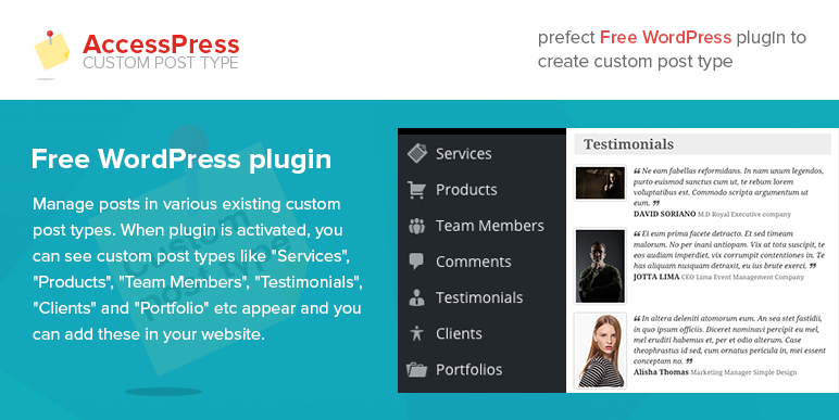 WordPress Custom Post Type Plugin – AccessPress Custom Post Type