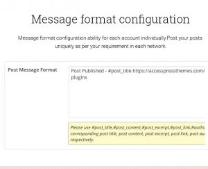 message-format-config