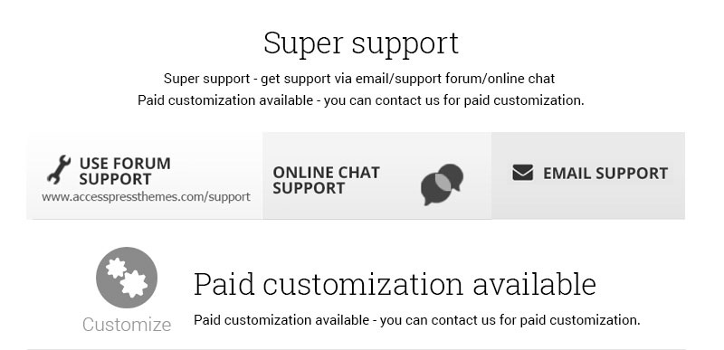 super-support-and-paid-custmization-available