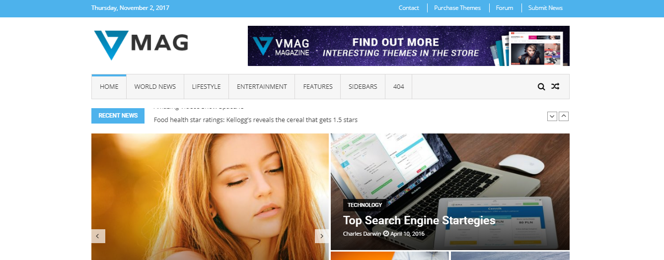 VMag Lite - Top 7 WordPress Magazine and Newspaper Themes