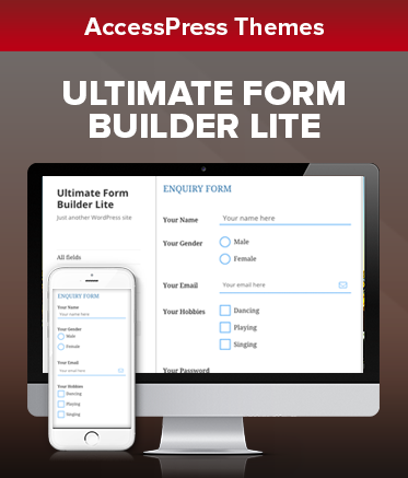 Best Free WordPress form plugin - Ultimate Form Builder Lite