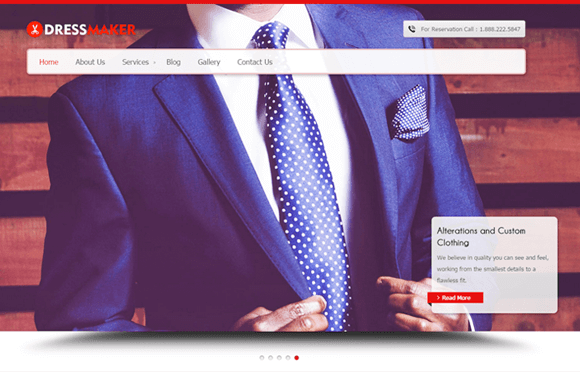 DressMaker WordPress Theme