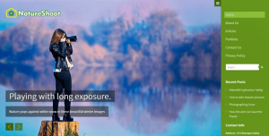 NatureShoot WordPress Theme