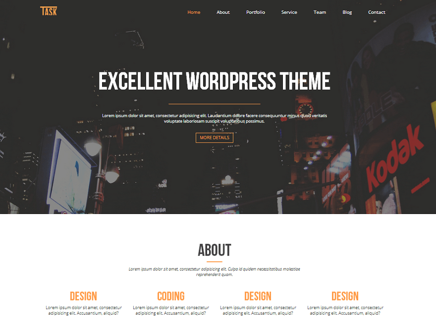35+ Best Free One Page Parallax WordPress Themes 2019