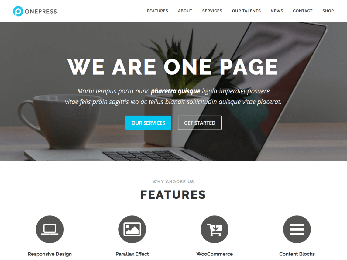 35 Best Free One Page Parallax Wordpress Themes 2020