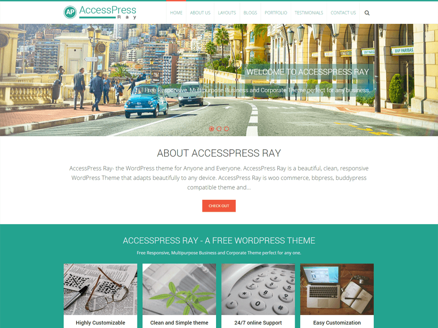 30 best free responsive wordpress themes for 2018 accesspress ray accesspress ray accesspress ray accesspress ray is a beautiful free business wordpress theme friedricerecipe Gallery