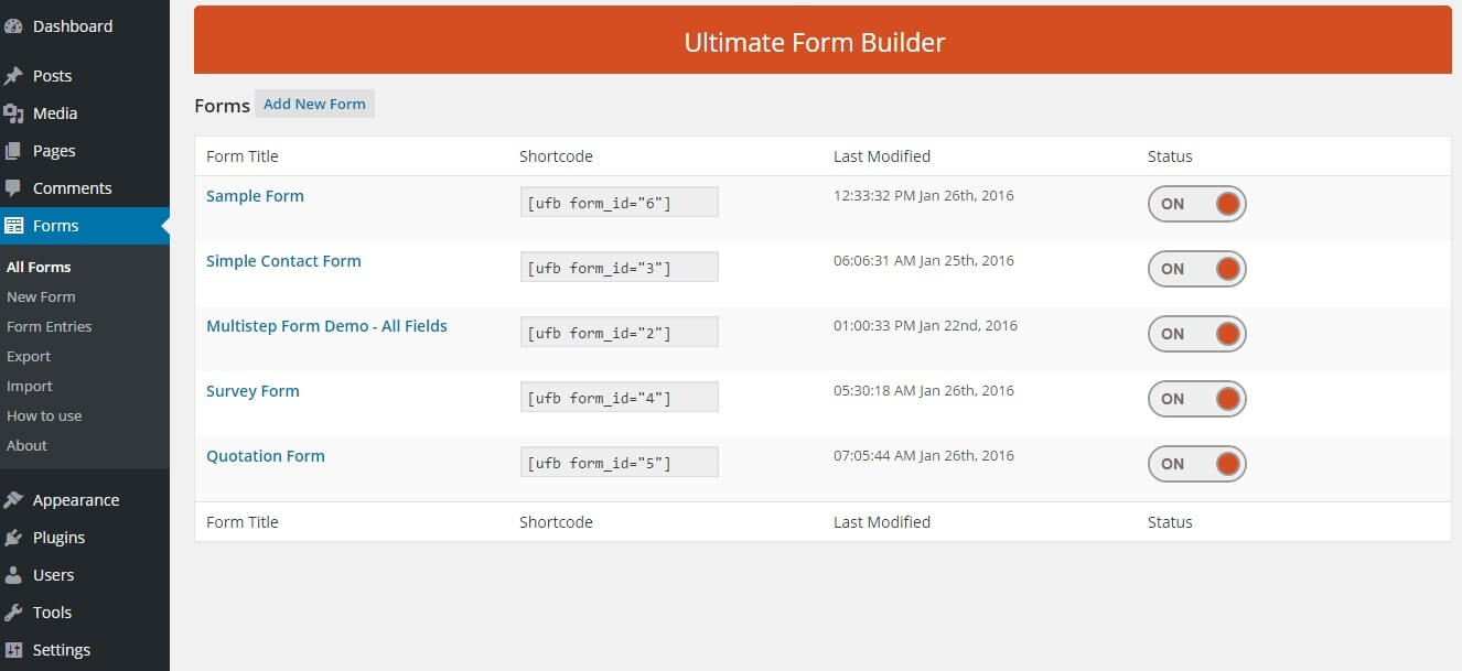 Ultimate form builder-all forms