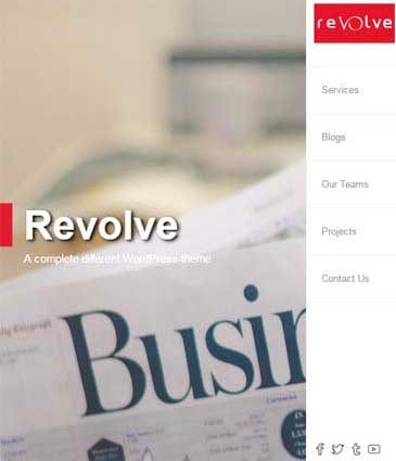Custom Design Modern Free WordPress Theme - Revolve