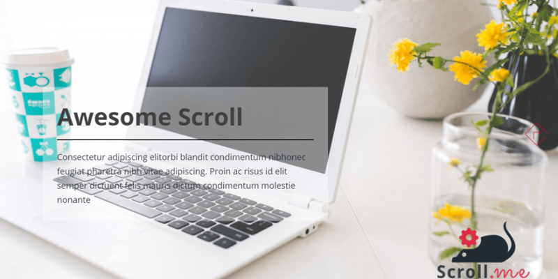 ScrollMe- Awesome Free Horizontal Scrolling WordPress Theme