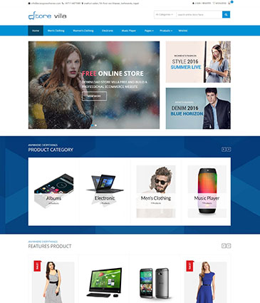 Best Free WordPress Store / WooCommerce Theme - Storevilla