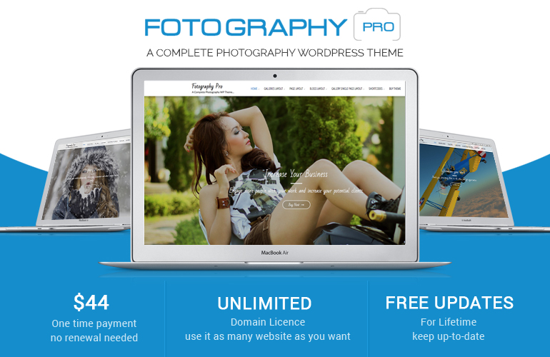 #1 Premium WordPress Photography Theme – Fotography Pro