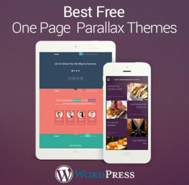 35+ Best Free One Page Parallax WordPress Themes 2017