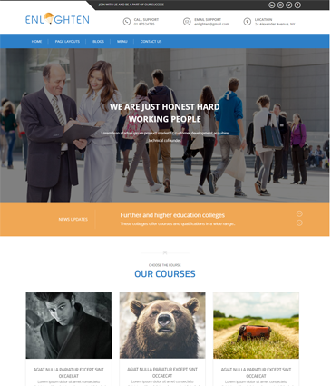 Free Education WordPress Theme – Enlighten