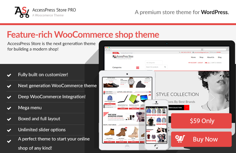woocommerce free themes with demo data