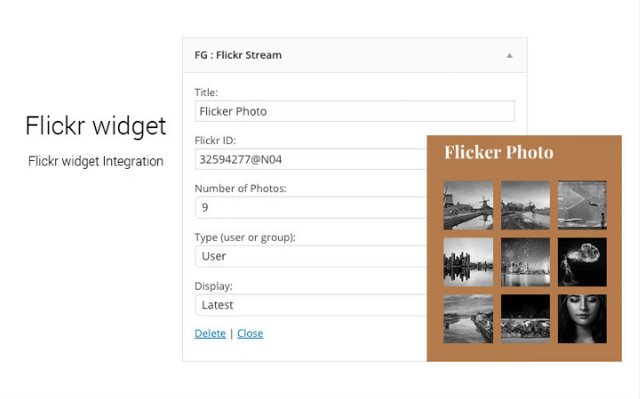 Flickr-Widget