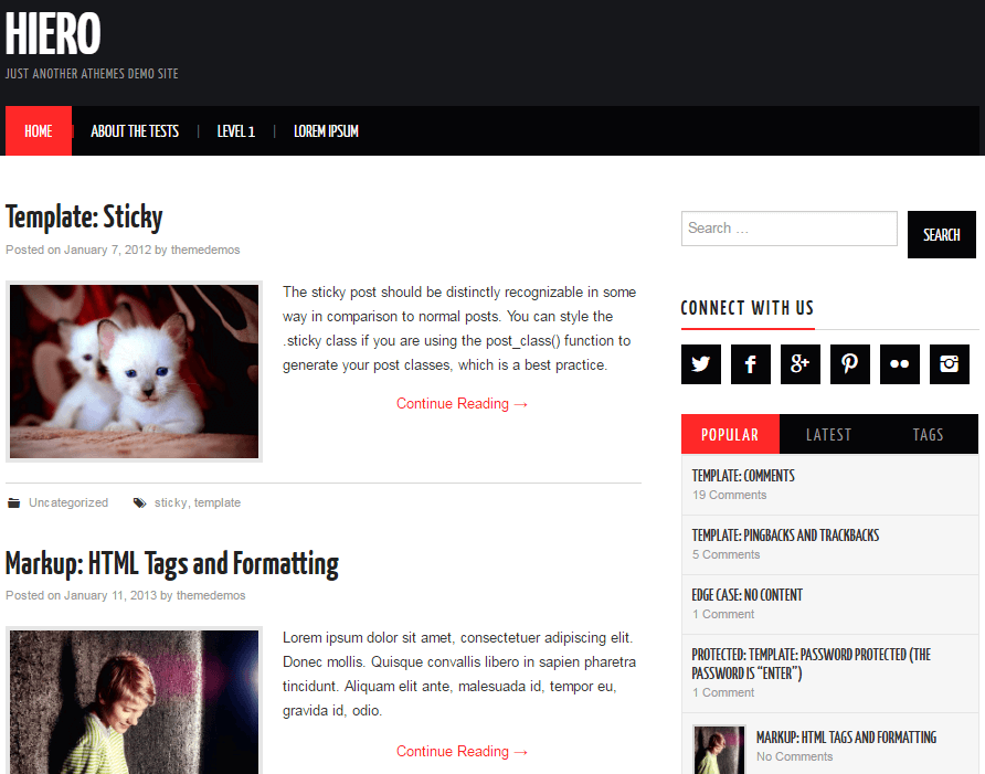 Hiero wp theme
