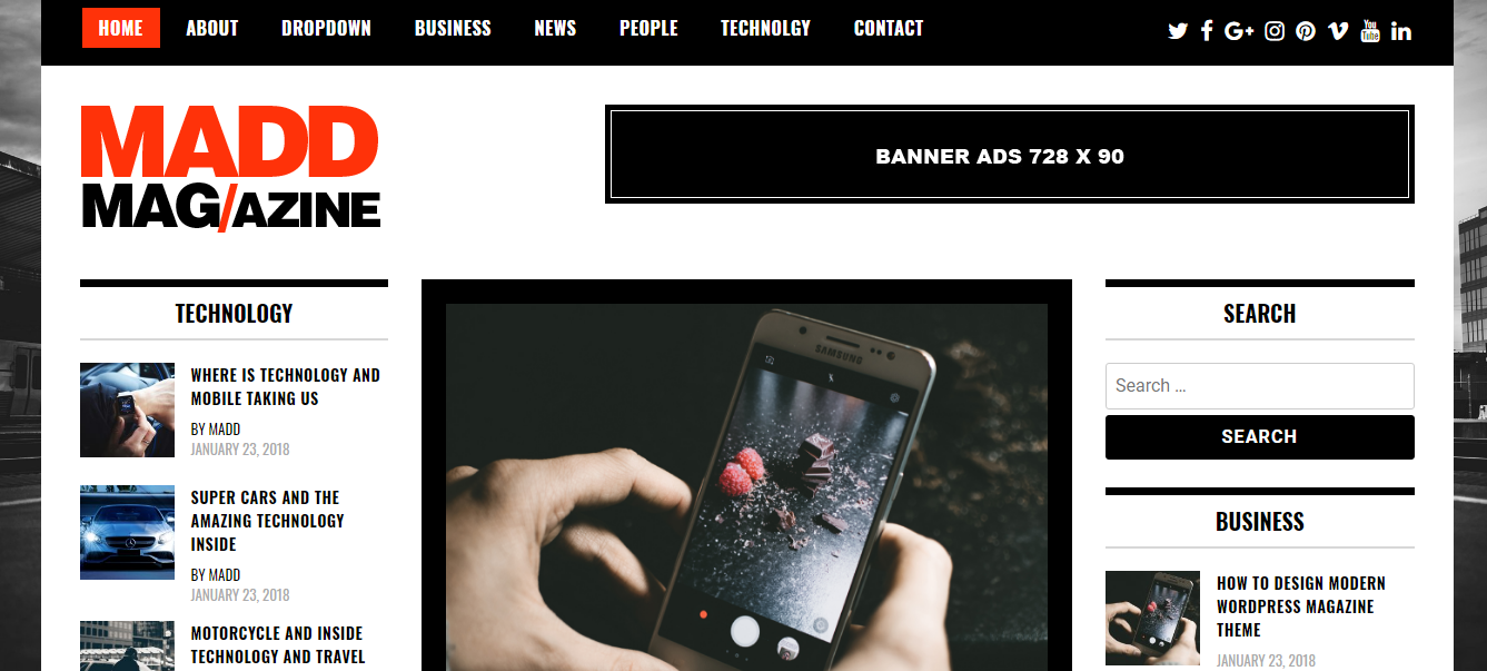 Madd Magazine WordPress Theme – Free Magazine WordPress Theme Madd