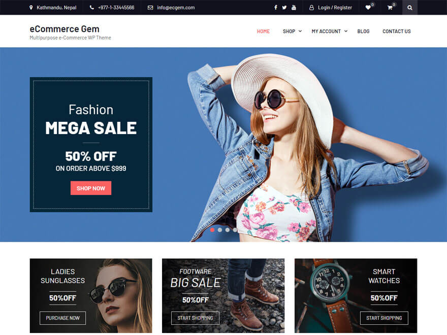 eCommerce Gem - WordPress eCommerce Theme