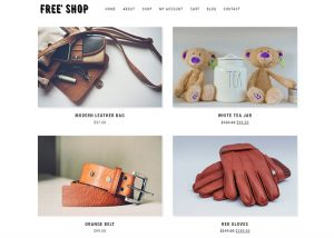 free WooCommerce theme -Free Shop