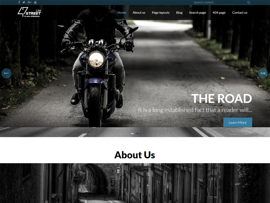 FortySeven Street - Best Free WordPress Business Theme