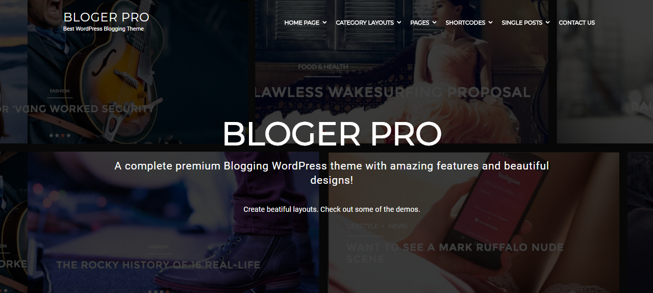 bloger pro news magazine theme