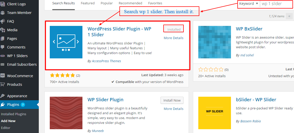 install-wp 1 slider plugin