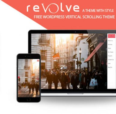 Revolve – FREE Vertical Scrolling WordPress Theme, multipurpose theme with Style