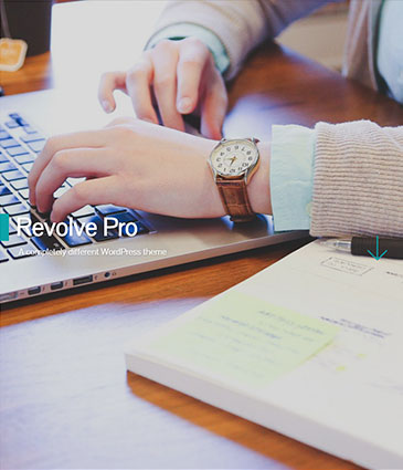 Custom Design Modern Premium WordPress Theme – Revolve Pro