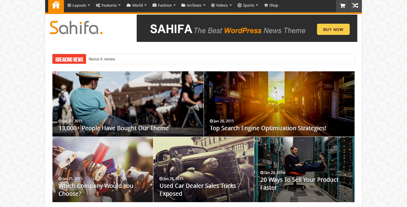 sahifa news magazine theme