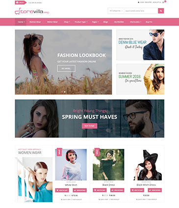 The Best Premium WordPress eCommerce / Store / WooCommerce Theme - StoreVilla Pro