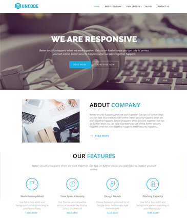 #1 Free WordPress Corporate / Business Responsive Theme – Uncode Lite
