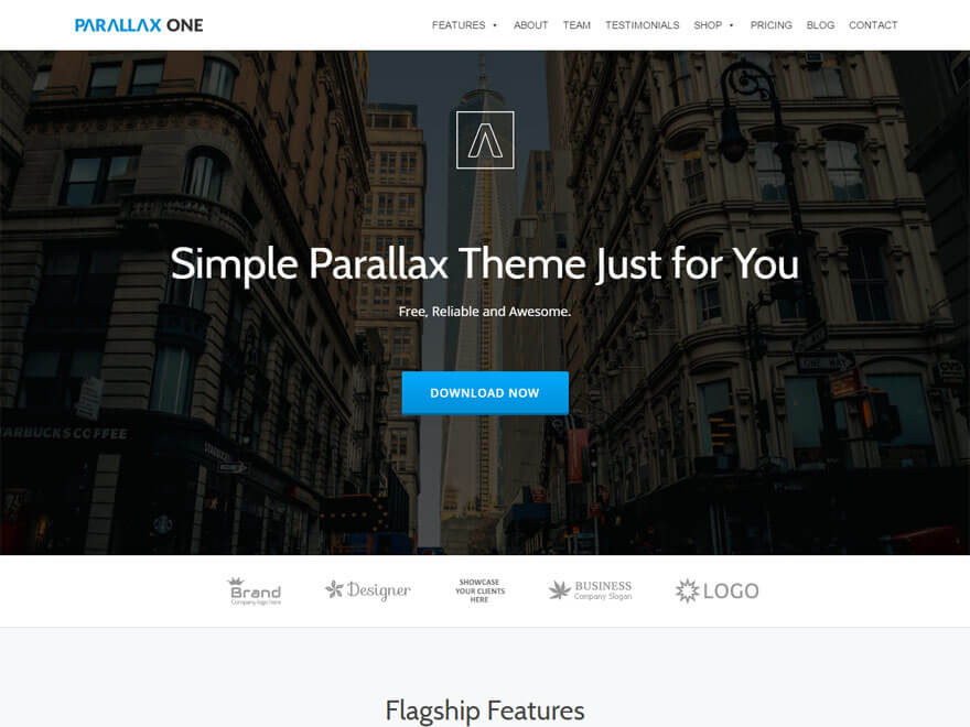 parallax-one-free-wordpress