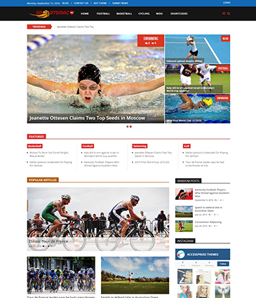 Premium WordPress Sports Magazine Theme - SportsMag Pro