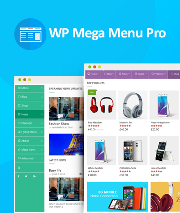 Responsive Mega Menu Plugin for WordPress - WP Mega Menu Pro