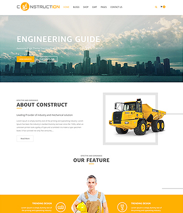 Free WordPress Theme for Construction, Building, Architect Company – Construction Lite