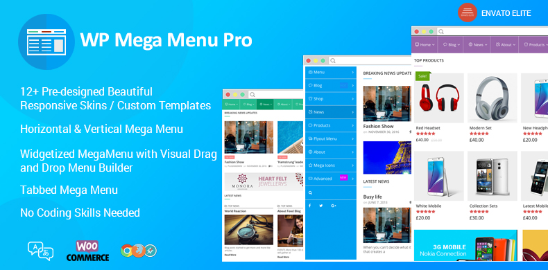 Responsive Mega Menu Plugin for WordPress – WP Mega Menu Pro