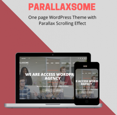 Introducing ParallaxSome: Feature-rich One Page Theme with Awesome Parallax Scrolling Effect