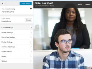 ParallaxSome Free WordPress Theme Feature - Live Customizer Based