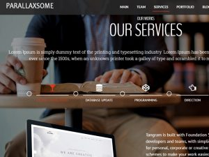 ParallaxSome Free WordPress Theme Feature - Parallax Menu with Floating Option