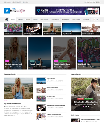 The Best Premium WordPress Magazine / News / Editorial Theme – VMag Pro