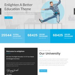 Enlighten Pro - WordPress Education Theme