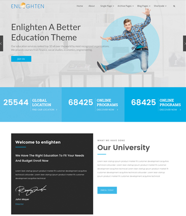 WordPress Education Theme - Enlighten Pro