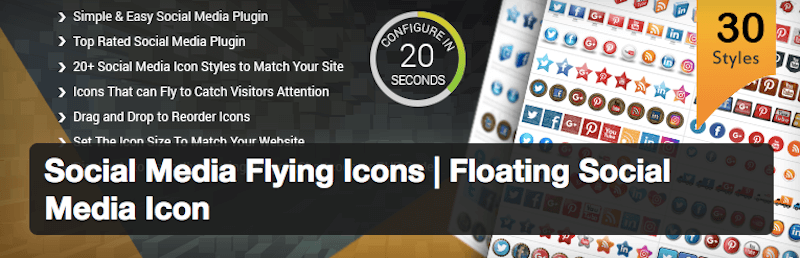 Social Media Flying Icons - Social Media Plugin