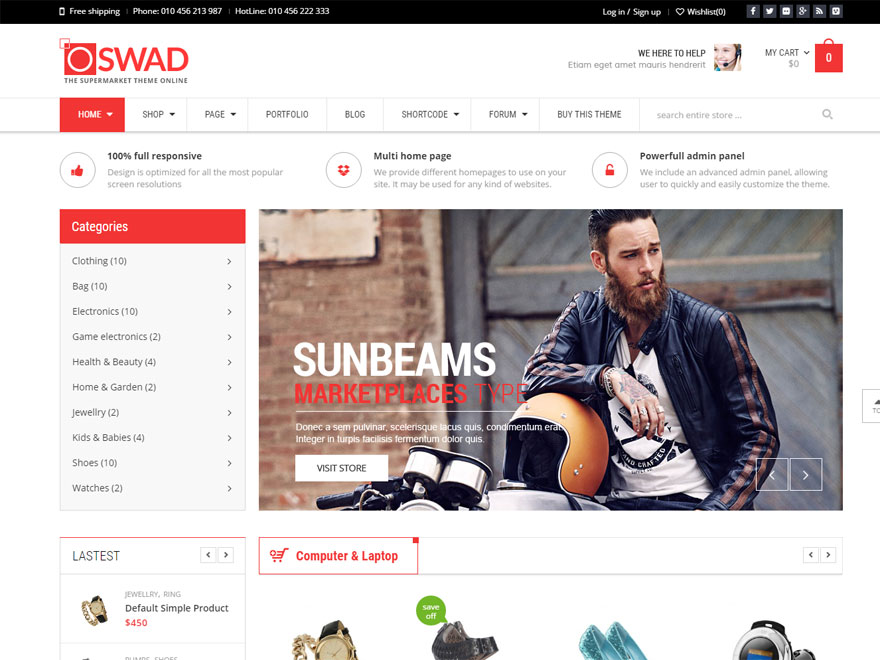 Oswad - Best WordPress eCommerce Theme