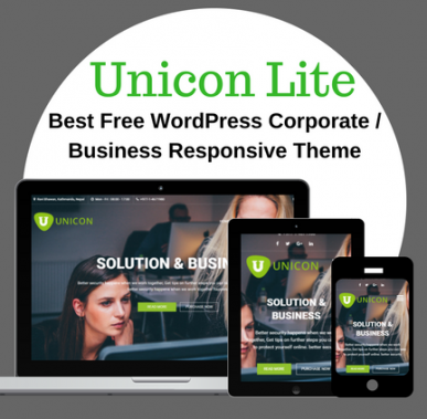 Introducing Unicon Lite - Free WordPress Corporate / Business Responsive Theme