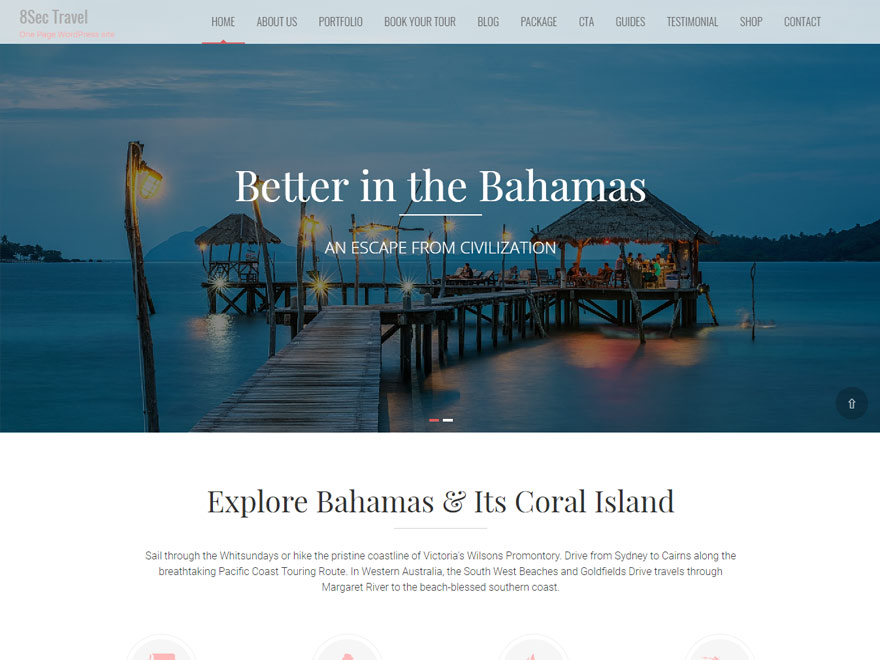 Eight Sec Pro - Parallaxsome - Best Responsive One Page WordPress Themes
