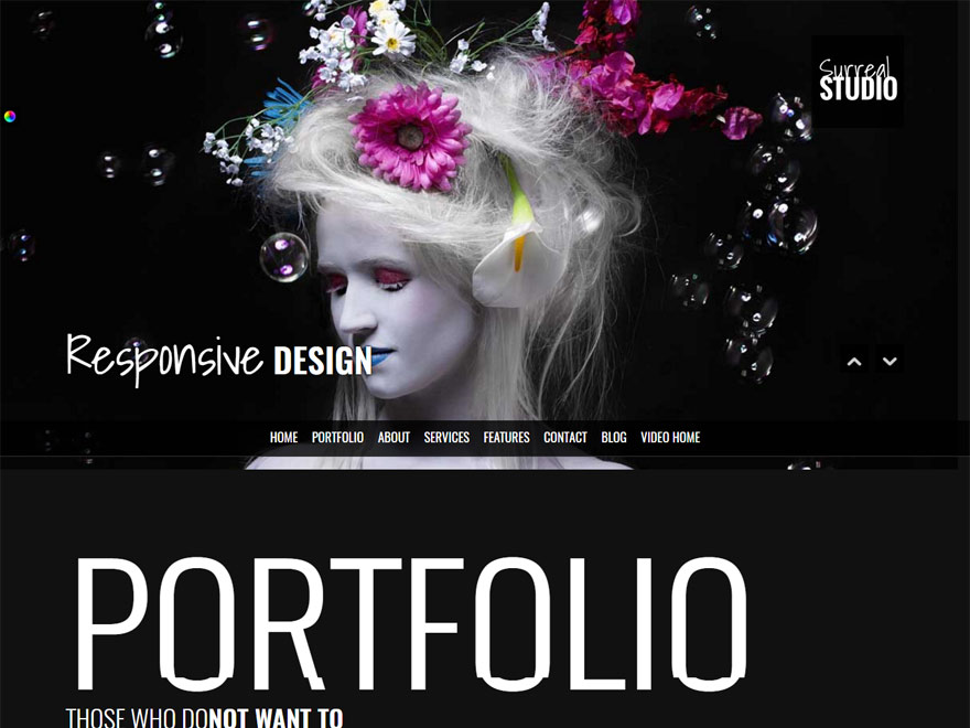 Surreal - Best Responsive One Page WordPress Themes
