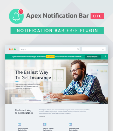 Responsive Notification Bar Plugin for WordPress - Apex Notification Bar Lite