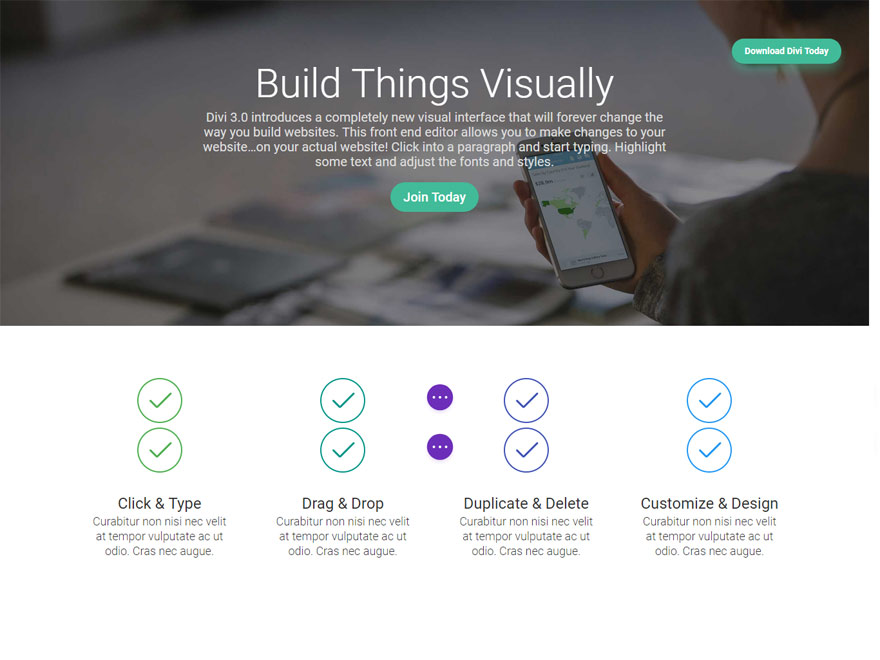 Divi - Best Responsive One Page WordPress Themes